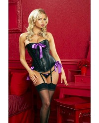 ZZ9245#Leather Corset - Size M (1 PC ONLY)